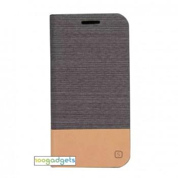 Текстурный чехол флип подставка на силиконовой основе с отделением для карты для Asus Zenfone Zoom
