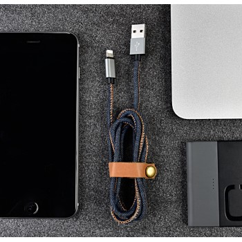 Зарядный кабель USB-lightning 1 м повышенной прочности с джинсовым покрытием