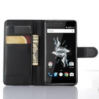 Чехол портмоне подставка с защелкой для OnePlus X Черный