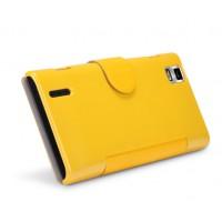 Чехол флип с магнитной застежкой для Huawei Ascend P2 Желтый