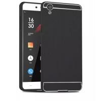 Двухкомпонентный чехол с металлическим бампером и поликарбонатной накладкой для OnePlus X Черный