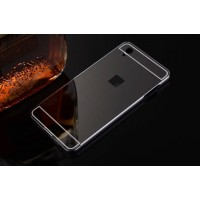 Двухкомпонентный чехол с металлическим бампером и поликарбонатной накладкой с зеркальным покрытием для OnePlus X