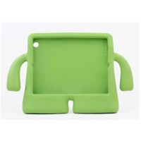 Детский ультразащитный гиппоаллергенный силиконовый фигурный чехол для планшета Ipad Air Зеленый