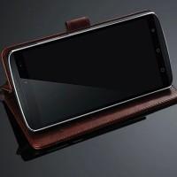 Чехол портмоне подставка с защелкой для Lenovo A7010 Коричневый