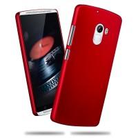 Пластиковый матовый непрозрачный чехол для Lenovo A7010 Красный