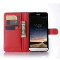 Чехол портмоне подставка с защелкой для LG Ray Красный