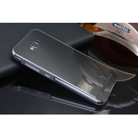 Гибридный металлический двухкомпонентный чехол и поликарбонатной крышкой текстура Металл для ASUS ZenFone Max Черный