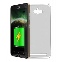 Силиконовый матовый полупрозрачный чехол для ASUS ZenFone Max Серый