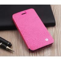 Чехол флип подставка на силиконовой основе текстура Дерево для ASUS ZenFone Max Розовый