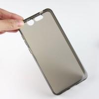 Силиконовый матовый полупрозрачный чехол для ZTE Blade S7 Серый