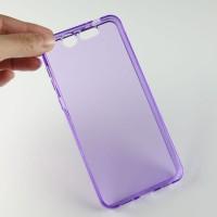 Силиконовый матовый полупрозрачный чехол для ZTE Blade S7 Фиолетовый