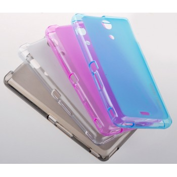 Силиконовый полупрозрачный чехол для Sony Xperia ZR