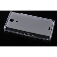 Силиконовый полупрозрачный чехол для Sony Xperia ZR Белый