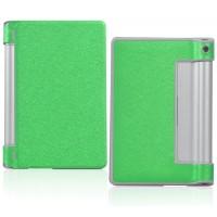 Чехол подставка на поликарбонатной основе текстурный Glossy Shield для планшета Lenovo Yoga Tablet 8 Зеленый