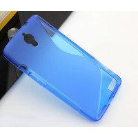 Силиконовый чехол S для Alcatel One Touch Idol X Голубой