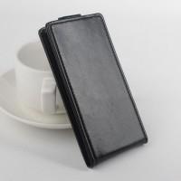 Глянцевый чехол вертикальная книжка на силиконовой основе с магнитной застежкой для Alcatel One Touch Idol 3 (4.7) Черный