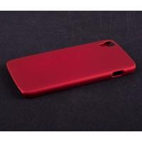 Пластиковый матовый непрозрачный чехол для Alcatel One Touch Idol 3 (4.7) Красный
