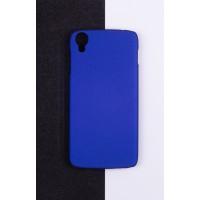 Пластиковый матовый непрозрачный чехол для Alcatel One Touch Idol 3 (4.7) Синий