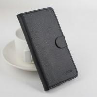 Чехол портмоне подставка на силиконовой основе с защелкой для Lenovo Vibe X3 Черный