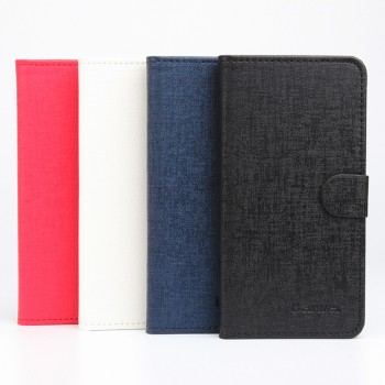 Текстурный чехол портмоне подставка на силиконовой основе с отделением для карт для Lenovo Vibe X3