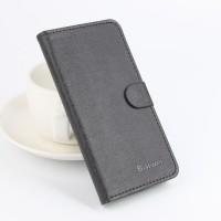 Текстурный чехол портмоне подставка на силиконовой основе с отделением для карт для Lenovo Vibe X3 Черный