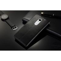 Глянцевый чехол портмоне подставка с защелкой для Lenovo Vibe X3 Черный