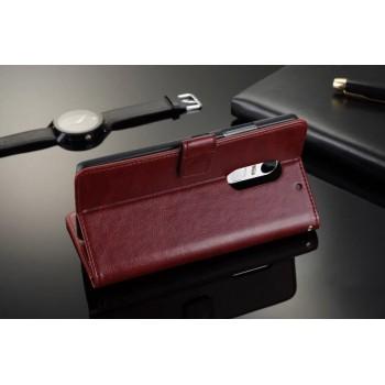 Глянцевый чехол портмоне подставка с защелкой для Lenovo Vibe X3