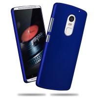Пластиковый матовый непрозрачный чехол для Lenovo Vibe X3 Синий