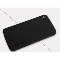 Пластиковый матовый нескользящий премиум чехол для Alcatel One Touch Idol 3 (5.5) Черный