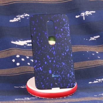 Пластиковый матовый дизайнерский чехол с голографическим принтом Звезды для Lenovo Moto X Style