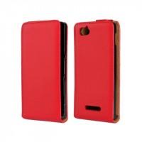Чехол книжка вертикальная для Sony Xperia M Красный