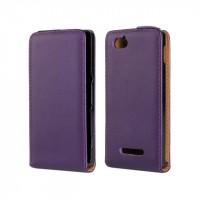 Чехол книжка вертикальная для Sony Xperia M Фиолетовый