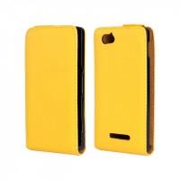 Чехол книжка вертикальная для Sony Xperia M Желтый