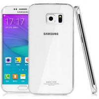 Пластиковый транспарентный олеофобный премиум чехол для Samsung Galaxy S6 Edge Plus