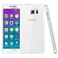 Пластиковый транспарентный олеофобный премиум чехол для Samsung Galaxy Note 5
