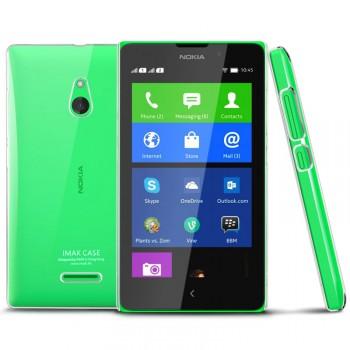 Пластиковый транспарентный олеофобный премиум чехол для Nokia XL