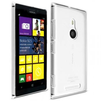 Пластиковый транспарентный олеофобный премиум чехол для Nokia Lumia 925
