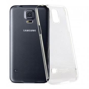Пластиковый транспарентный олеофобный премиум чехол для Samsung Galaxy S5