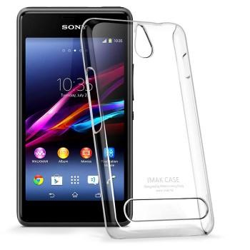 Пластиковый транспарентный олеофобный премиум чехол для Sony Xperia E1