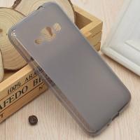 Силиконовый матовый полупрозрачный чехол для Samsung Galaxy J1 (2016) Черный