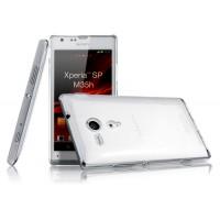 Пластиковый транспарентный олеофобный премиум чехол для Sony Xperia SP