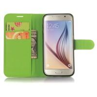 Чехол портмоне подставка с защелкой для Samsung Galaxy S7 Зеленый