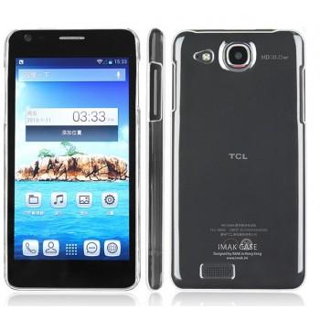 Пластиковый транспарентный олеофобный премиум чехол для Alcatel One Touch Idol Ultra