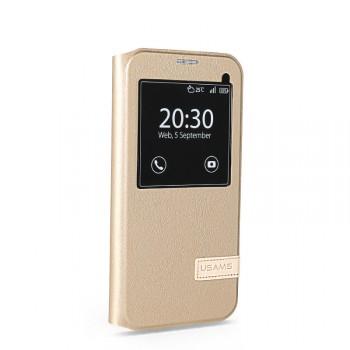 Чехол флип подставка на пластиковой основе с окном вызова для Samsung Galaxy S7