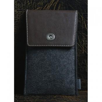 Войлочный мешок с кожаной отделкой и отделением для карт для Samsung Galaxy S7