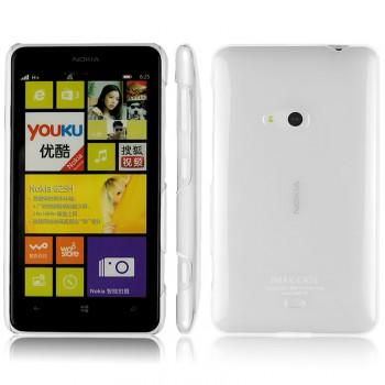 Пластиковый транспарентный олеофобный премиум чехол для Nokia Lumia 625