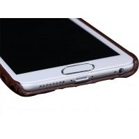 Кожаный чехол накладка (нат. кожа крокодила) для Samsung Galaxy S7 Черный