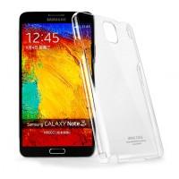 Пластиковый транспарентный олеофобный премиум чехол для Samsung Galaxy Note 3