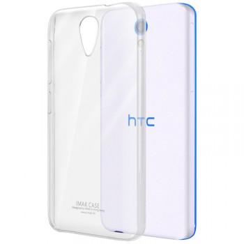 Пластиковый транспарентный олеофобный премиум чехол для HTC Desire 620
