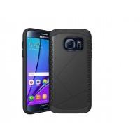 Антиударный гибридный силиконовый чехол с поликарбонатной крышкой для Samsung Galaxy S7 Черный